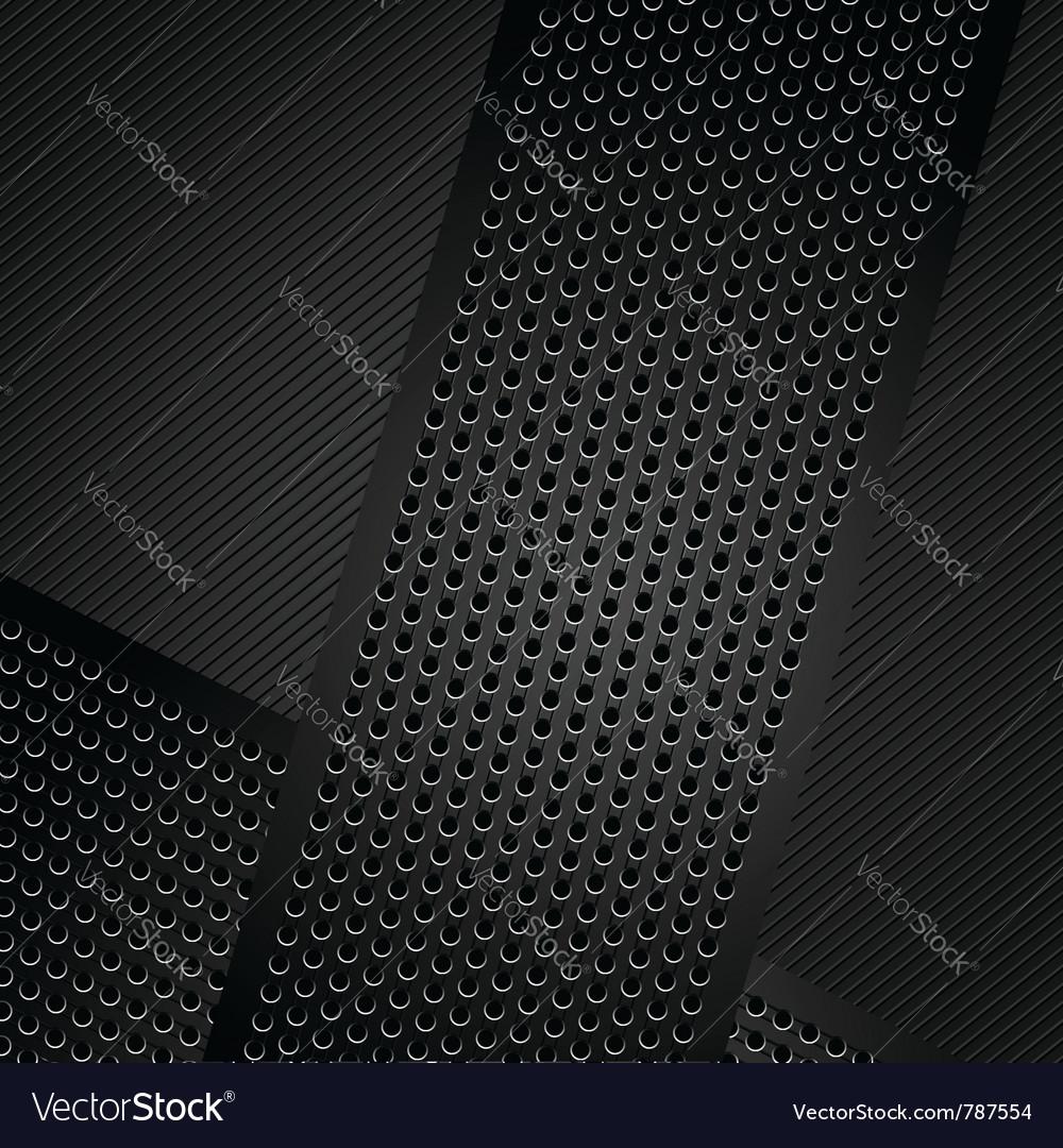 Metallic ribbons on corduroy background vector image