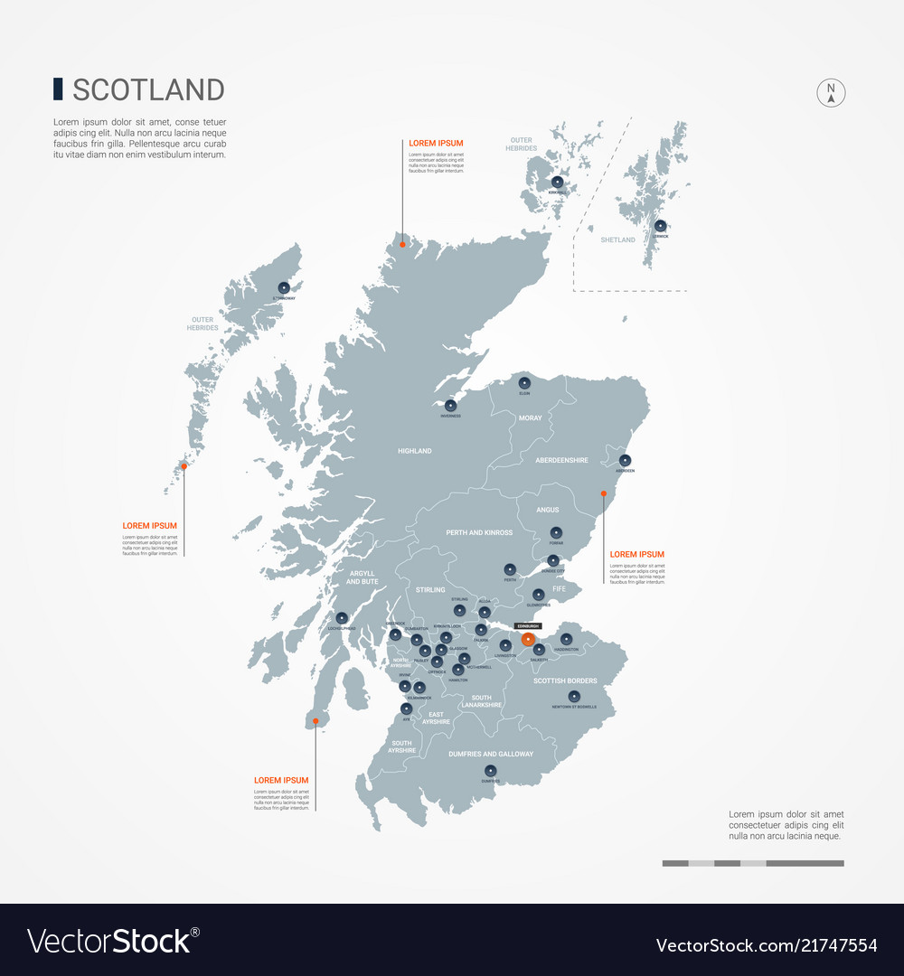 Scotland infographic map