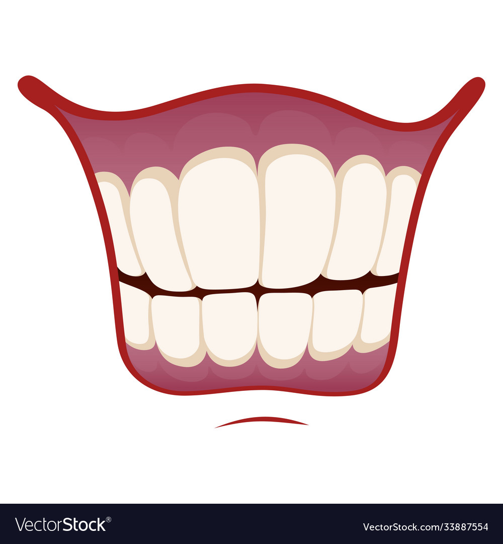 Smile icon happy image mouth with healthy