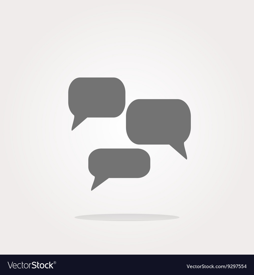 Speech cloud on web icon button isolated on