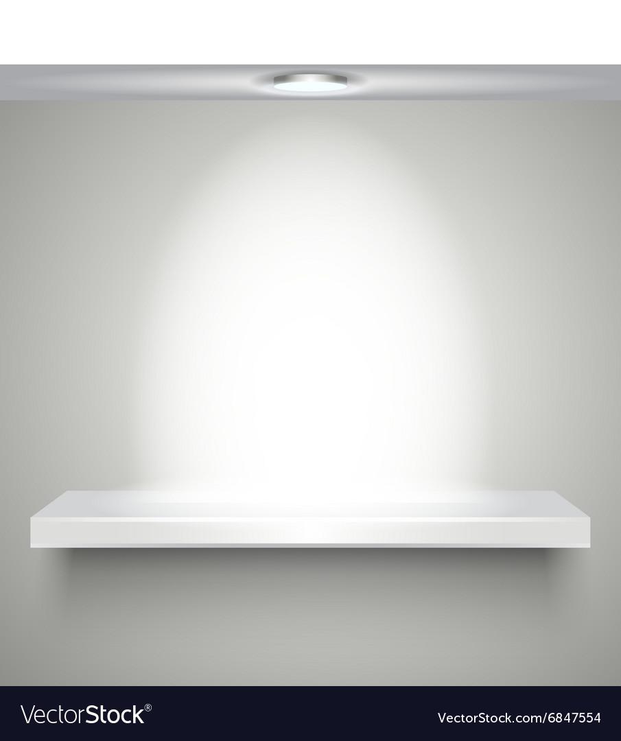White shelve with illumination vector image