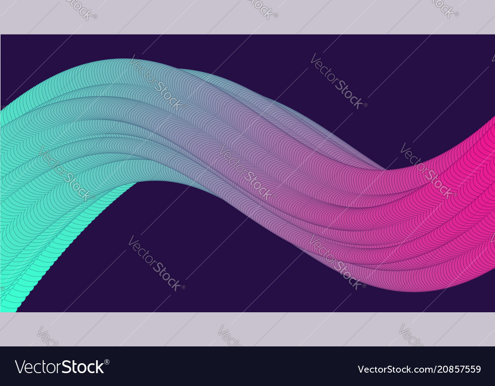 Abstract background with bright wavy element vector image