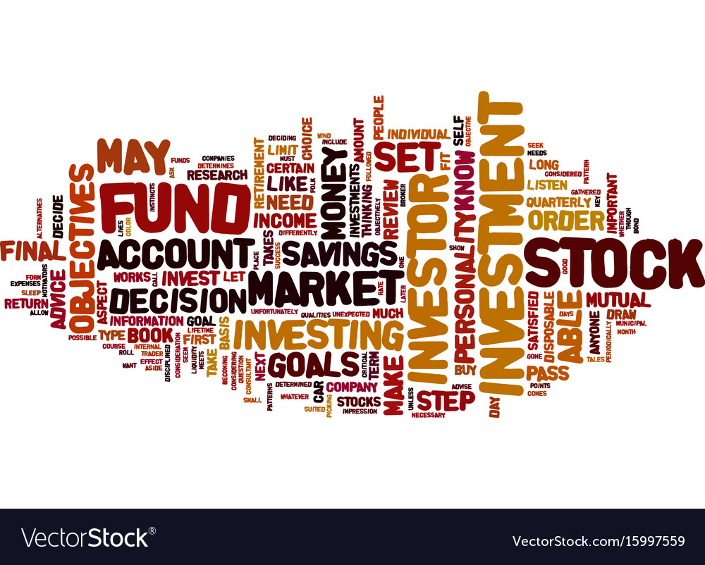 Are you a stock investor text background word vector image