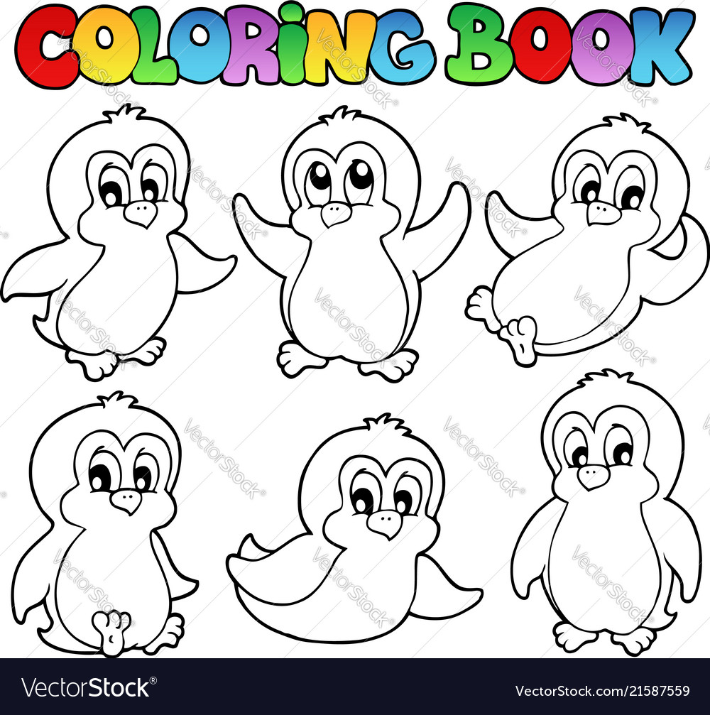 70+ Coloring Book Pictures Of Penguins Picture HD