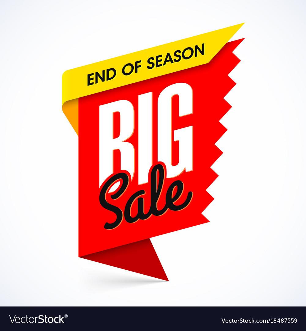 end of season big sale banner design template vector image
