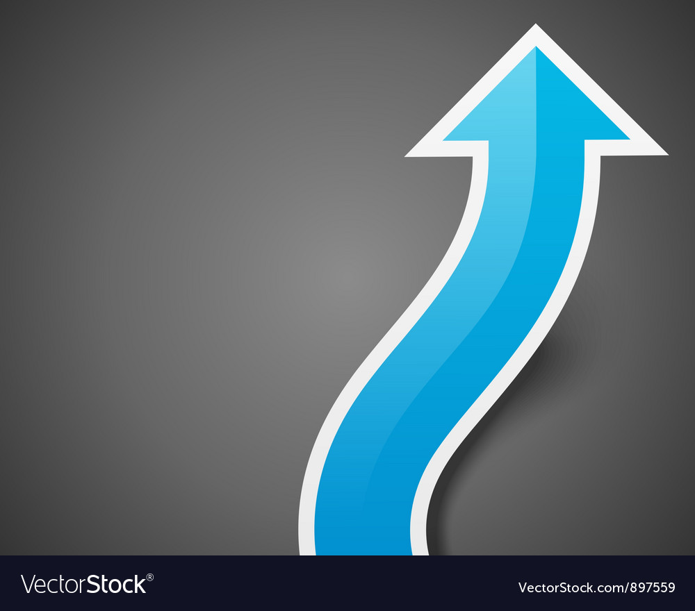 Graph arrow move up background eps vector image