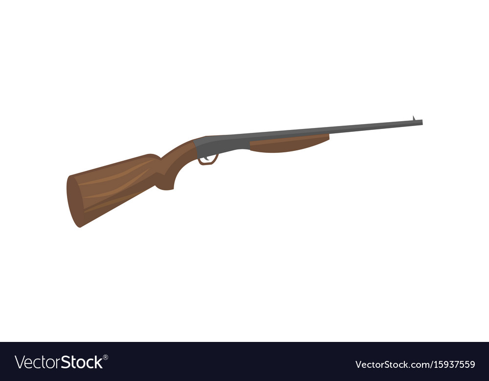 Hunting shotgun isolated icon vector image