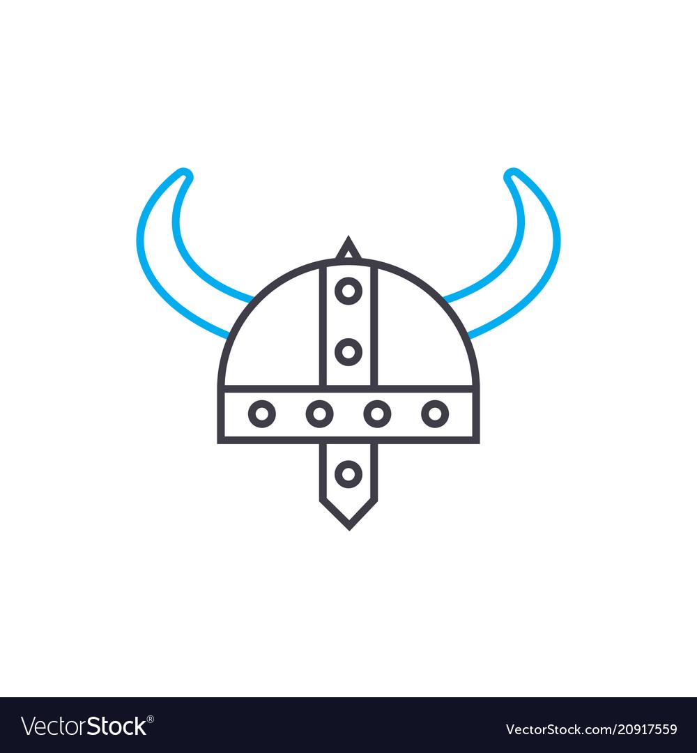 Military armor linear icon concept military armor