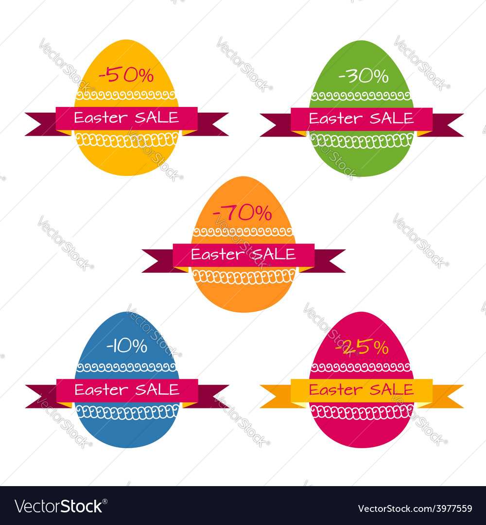 tags template for easter sale vector image