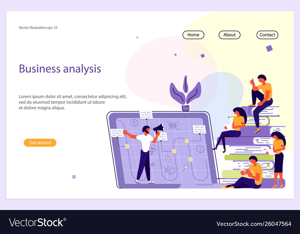 Business analisys website template