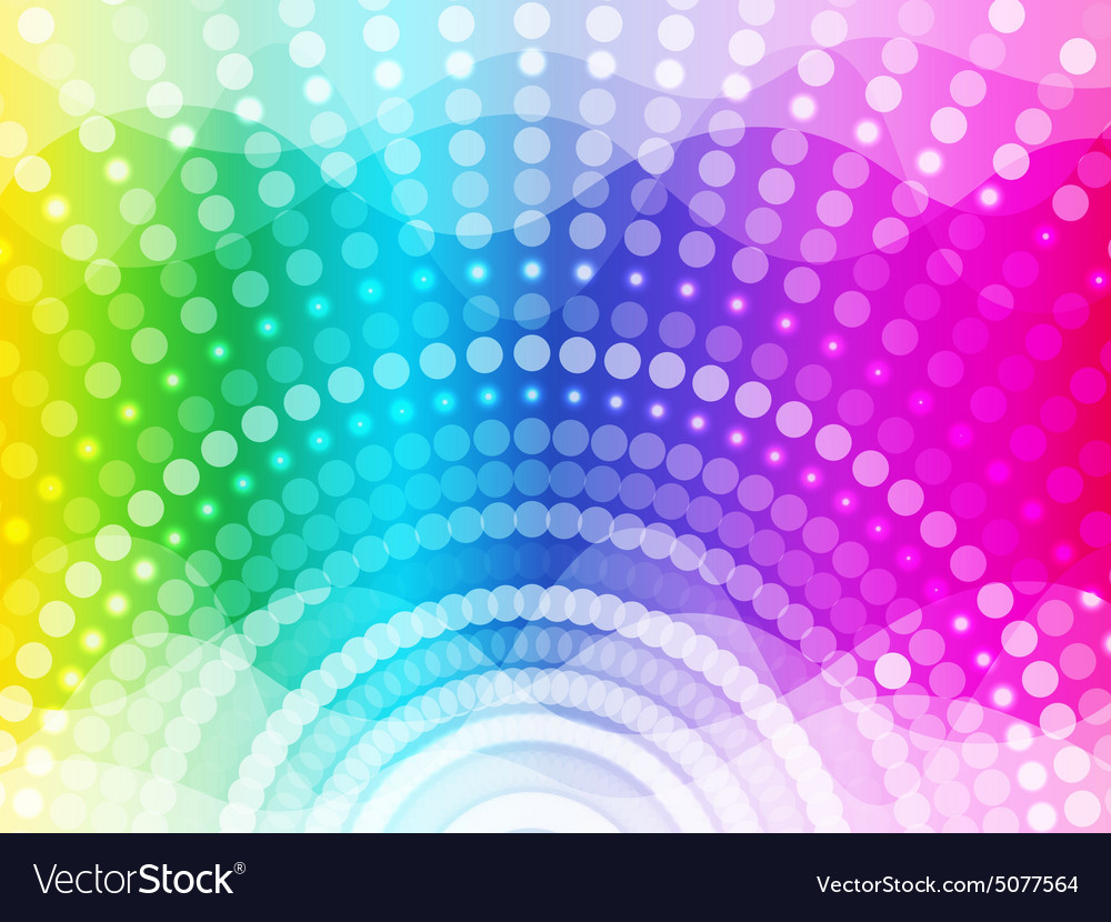 Colorful round and Wave background