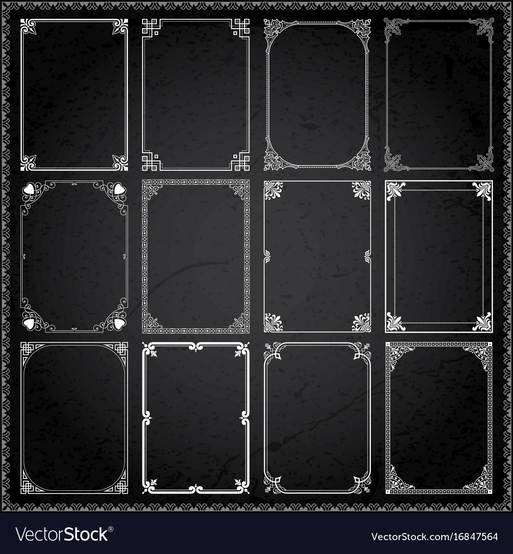 Decorative frames and borders rectangle 6