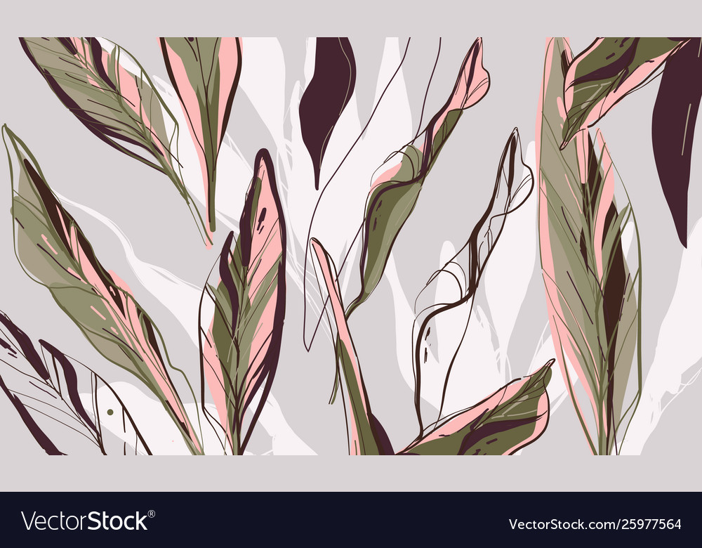 Floral palm leaves pattern tropical summer exotic