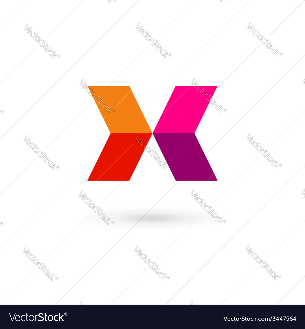 Letter X mosaic logo icon design template elements vector image
