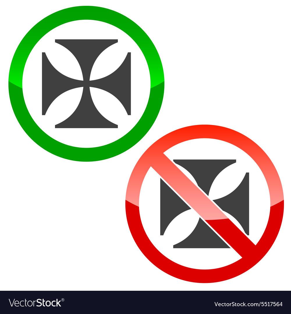 maltese cross permission signs set royalty free vector image rh vectorstock com maltese cross vector art free eps maltese cross vector art free eps