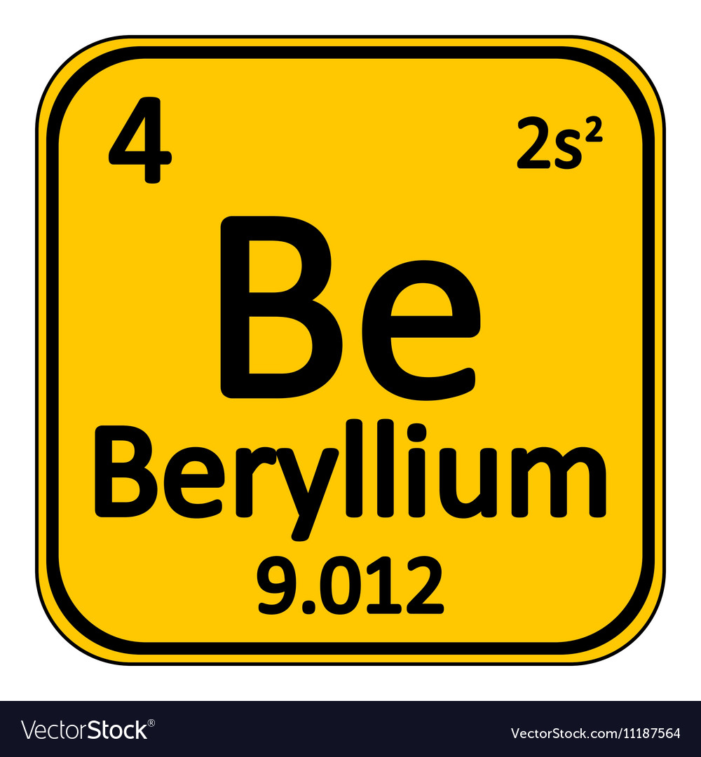 Periodic table element beryllium icon royalty free vector periodic table element beryllium icon vector image urtaz