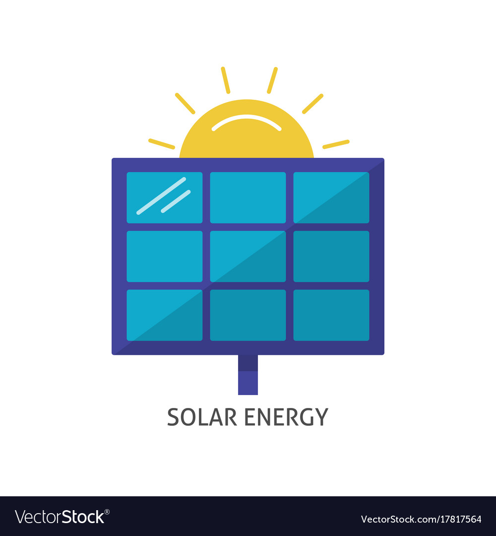 Solar panel icon in flat style Royalty Free Vector Image
