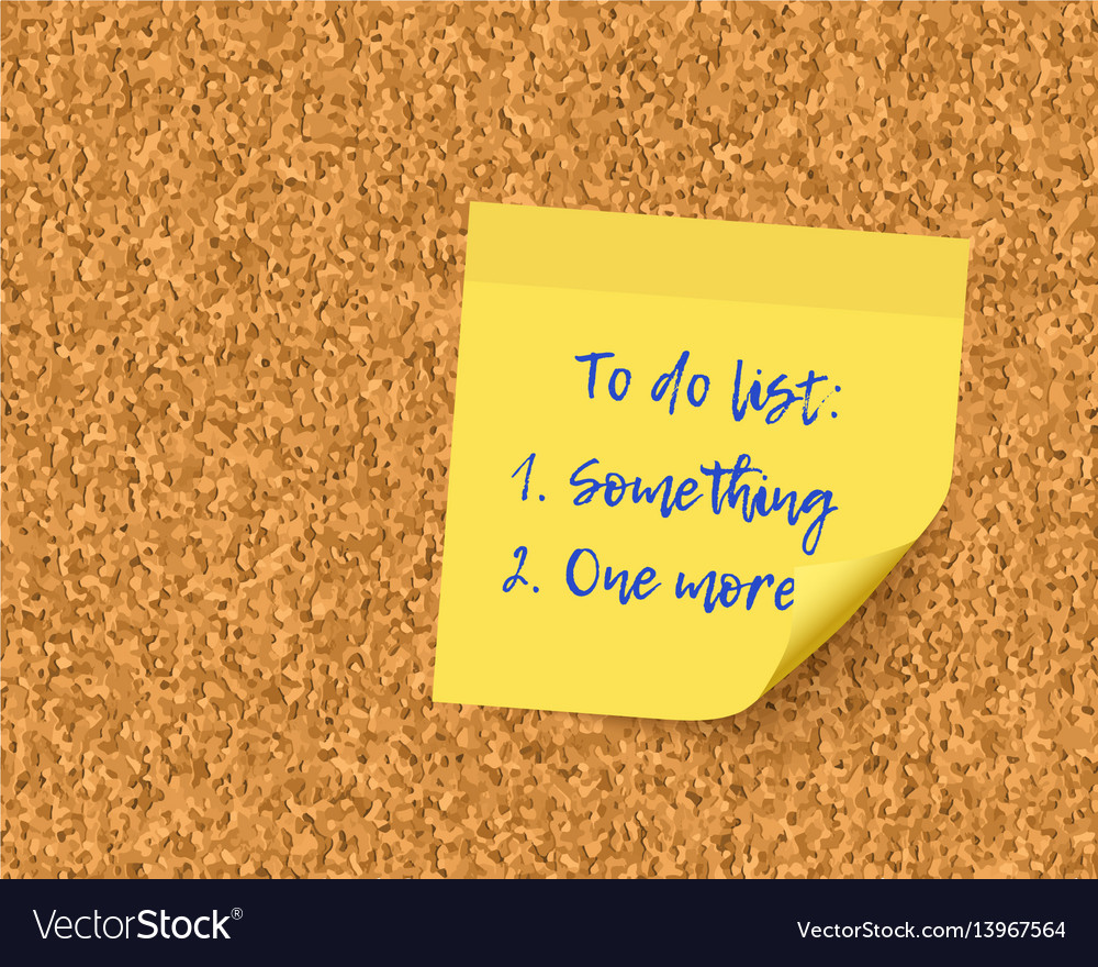 To do list on cork board background