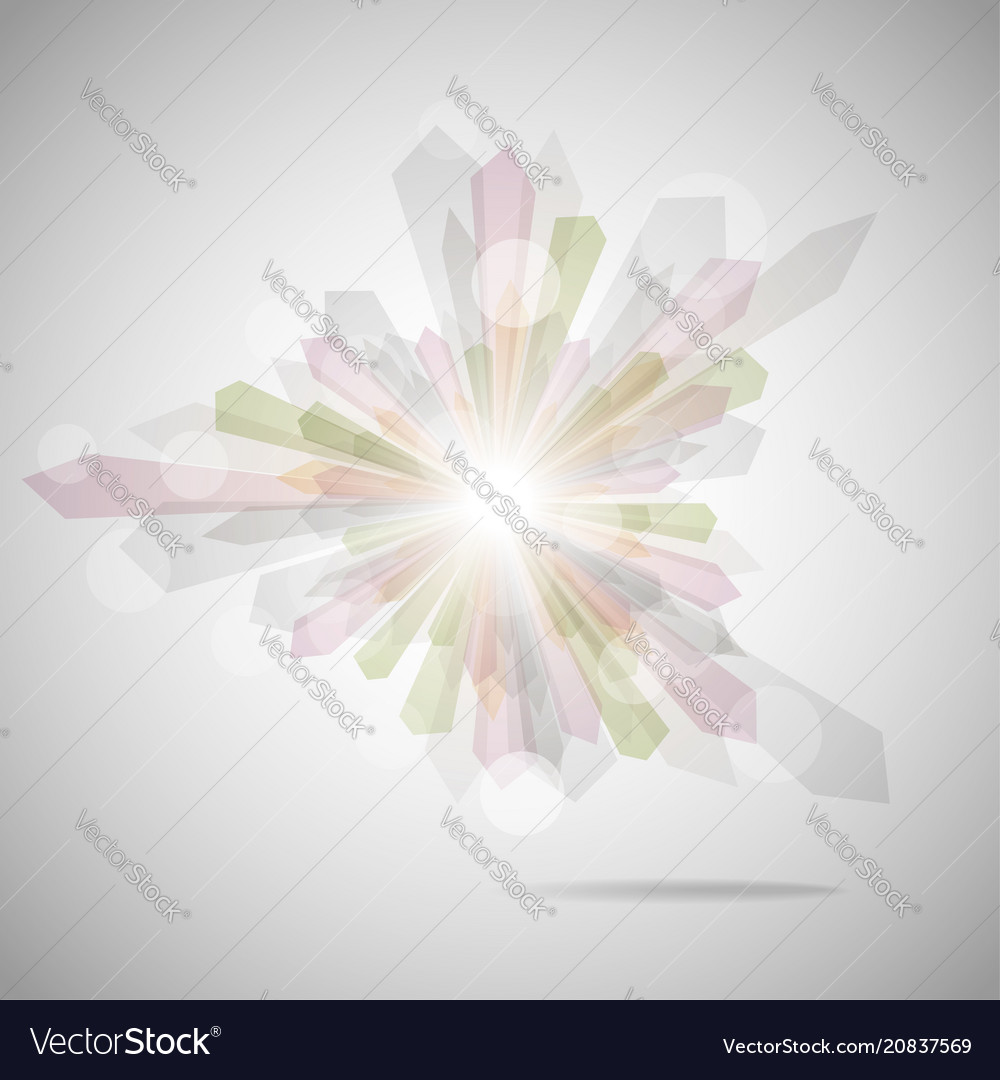 Abstract geometric elements on gray background vector image