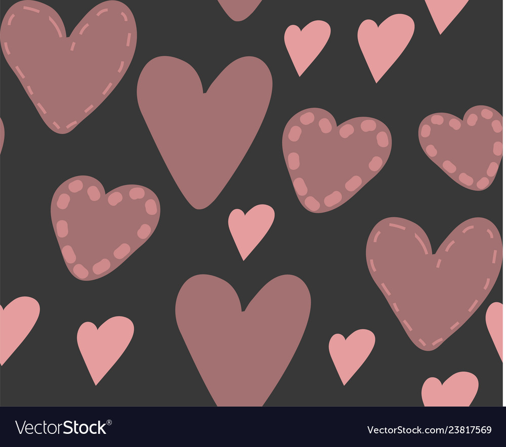 Abstract seamless pattern of hearts