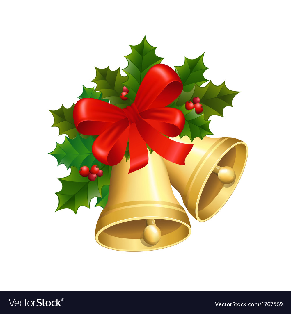 Christmas bells Royalty Free Vector Image - VectorStock