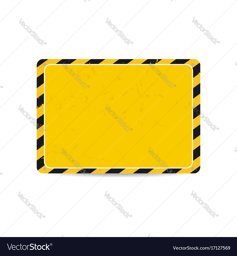 Hazard frame caution frame with black and yellow