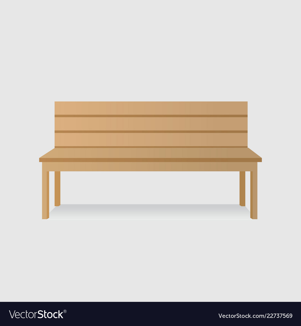 Wooden Bench Royalty Free Vector Image