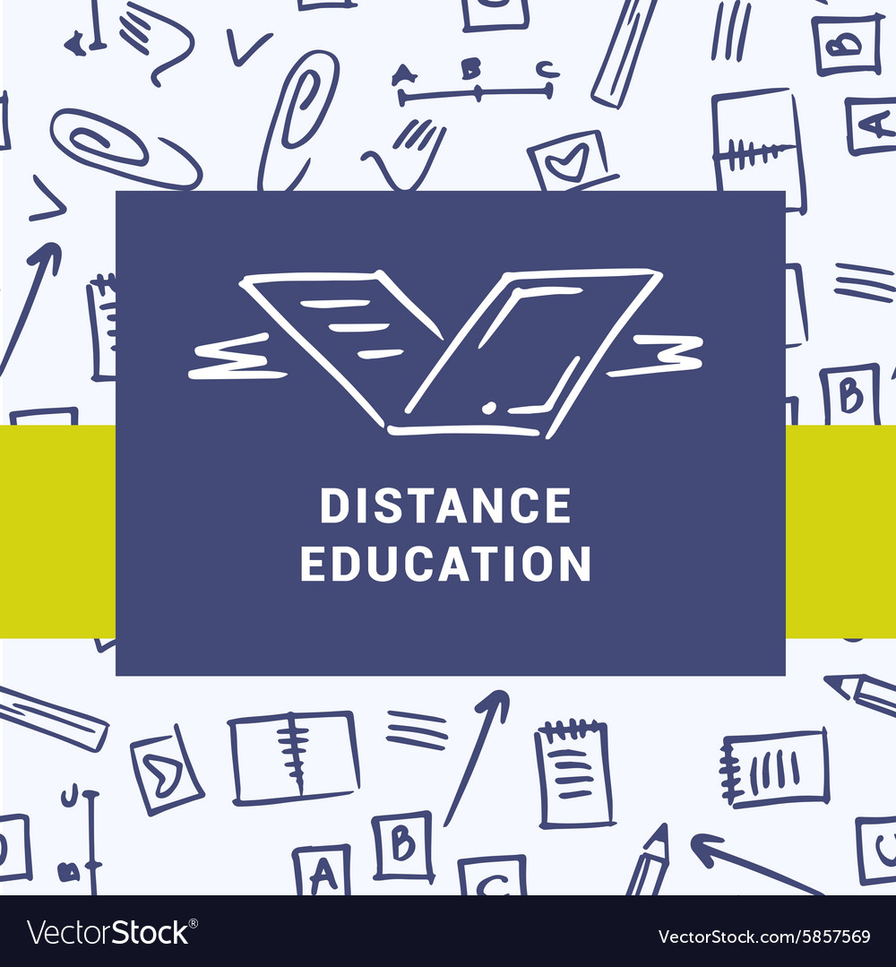 Logo of distance education courses Education on vector image