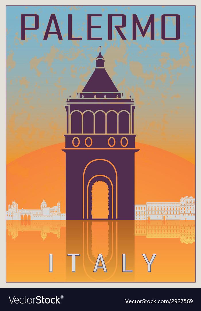 Palermo vintage poster