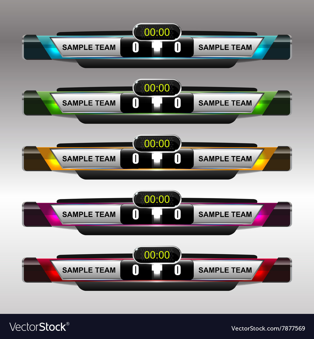 soccer and football scoreboard template royalty free vector