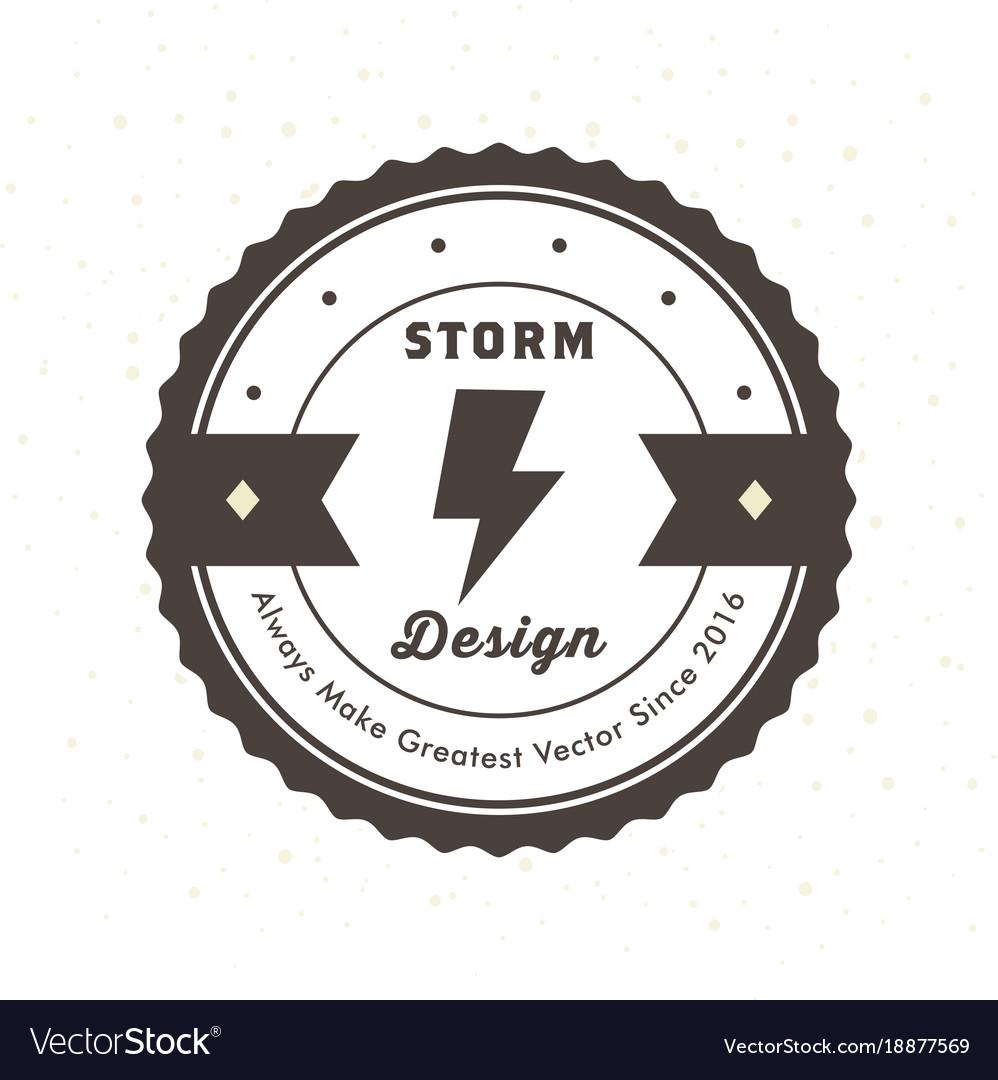 Vintage hipster logo design template royalty free vector vintage hipster logo design template vector image maxwellsz