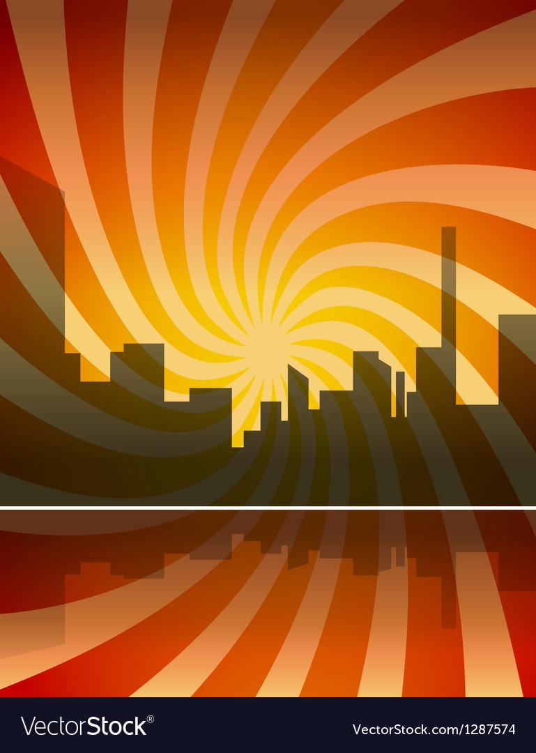 City panorama vector image