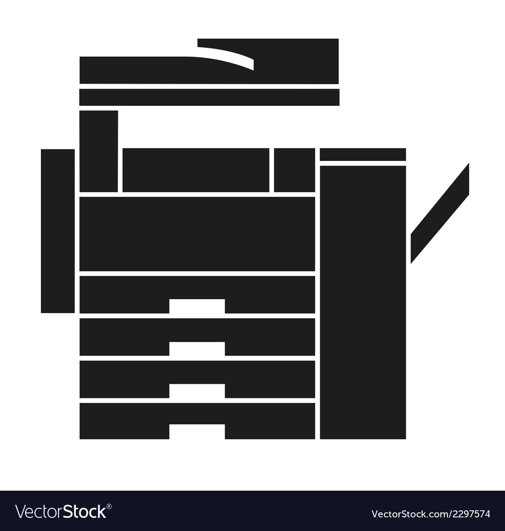Copy Machine Icons Logo Symbol vector image