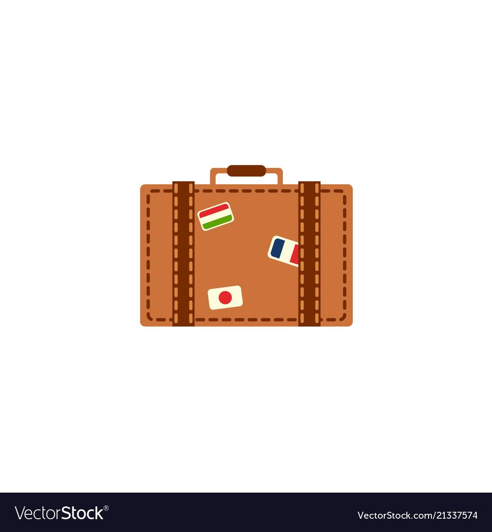 Flat vintage travelling bag