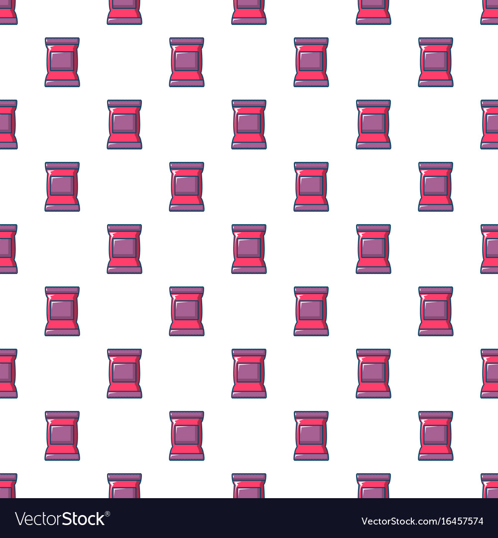 Food snack pillow bag pattern seamless vector image