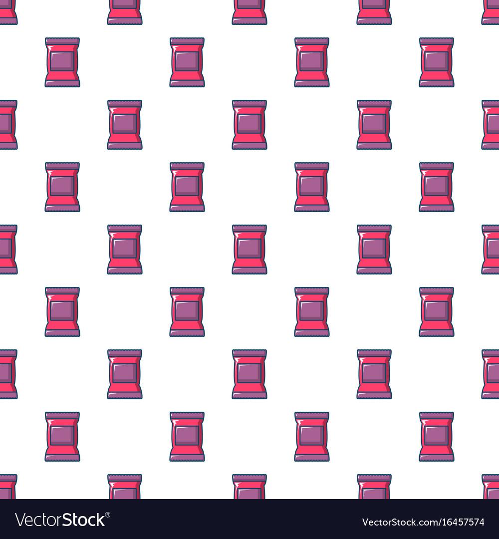 Food snack pillow bag pattern seamless