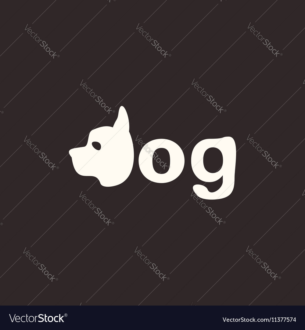 Logo dog vector image