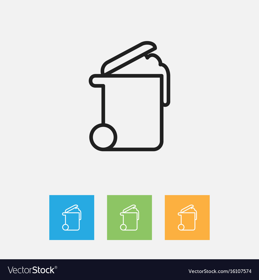 Of cleanup symbol on rubbish