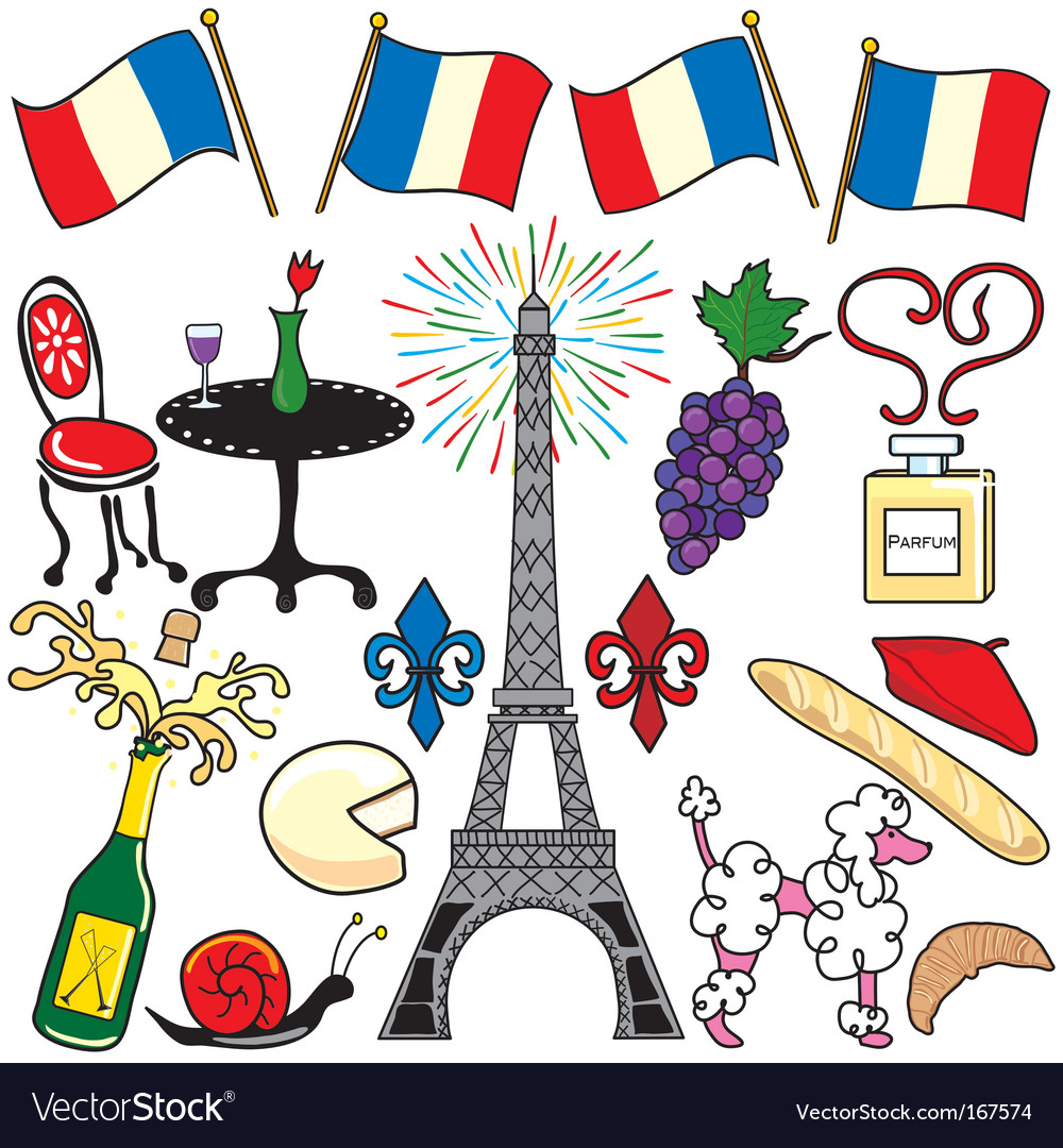 paris france clipart elements royalty free vector image rh vectorstock com paris clip art free images paris clip art images