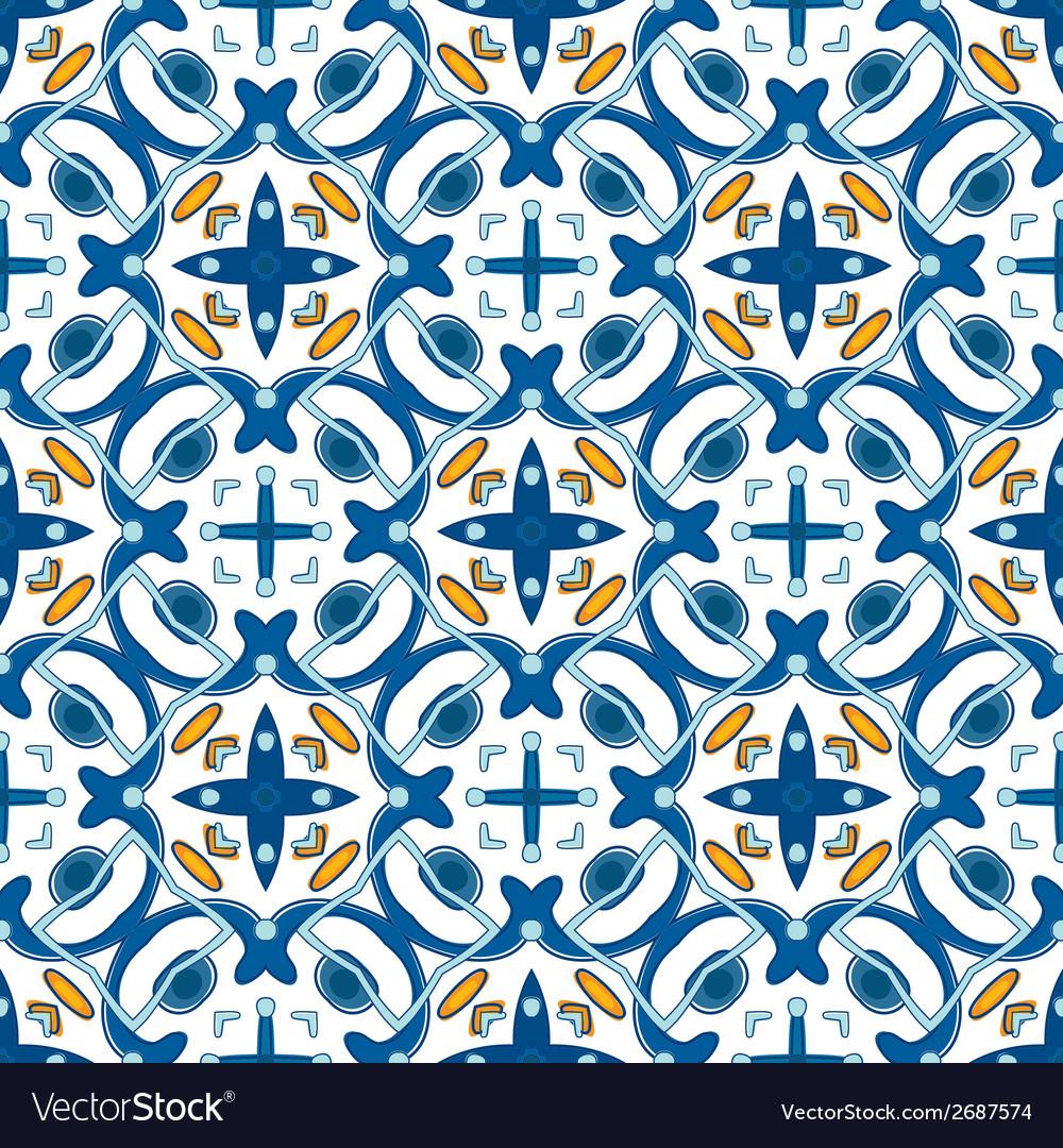 Portuguese Tile Vector Image
