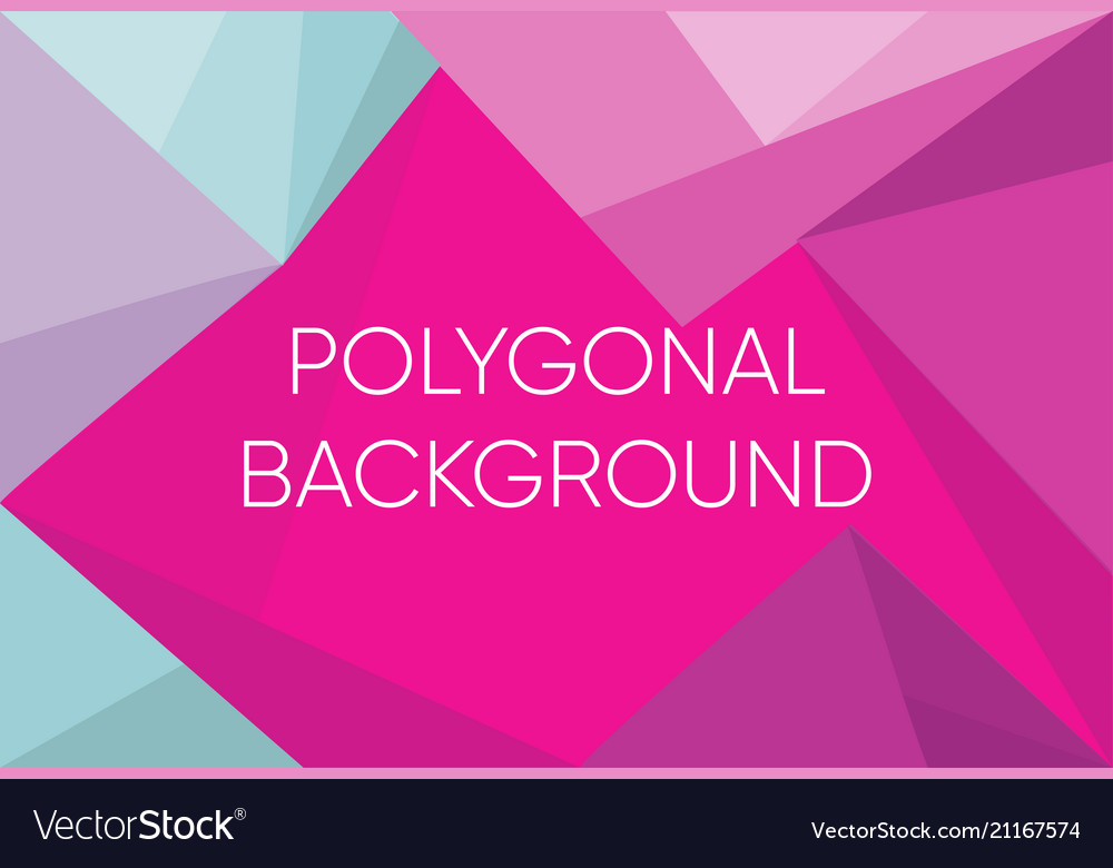Triangle polygon pattern background and gradient