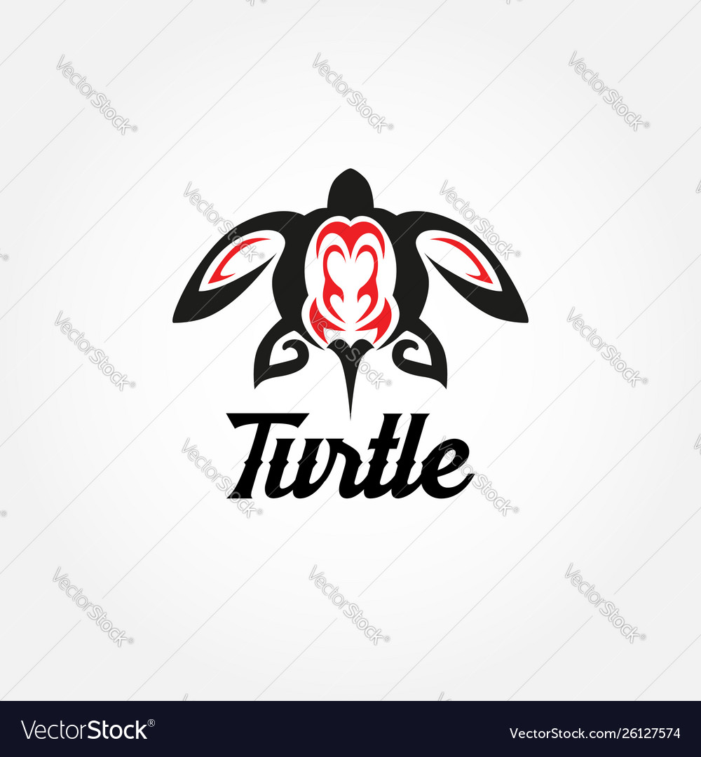 Tribal turtle tattoo logo sign symbol icon