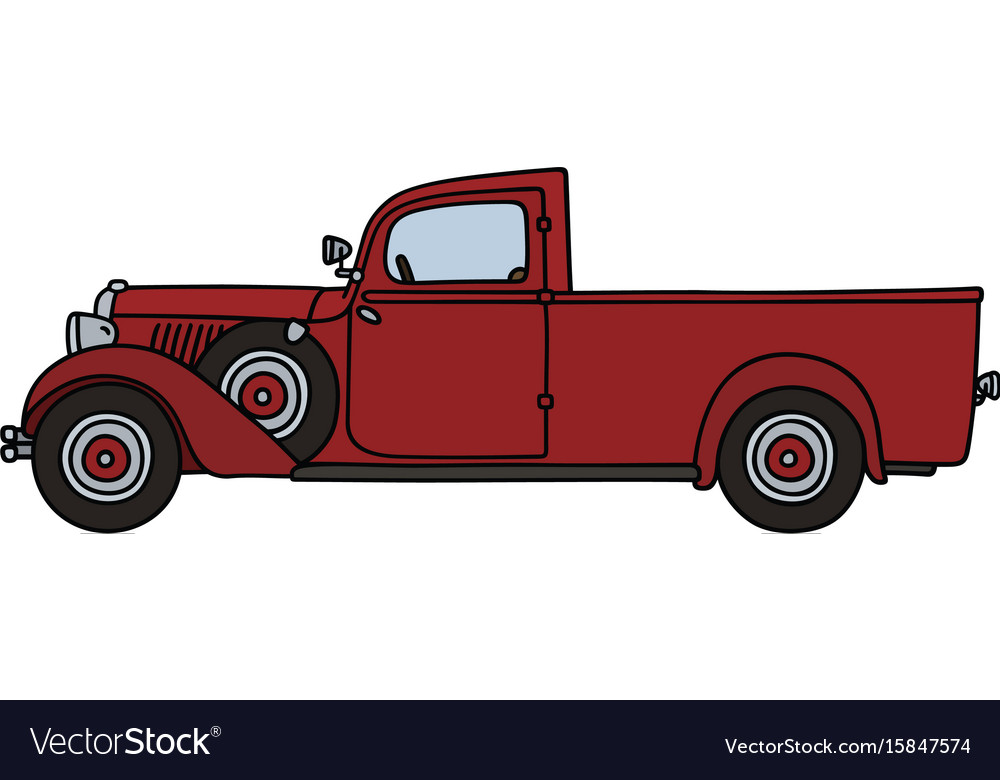 Vintage red delivery car