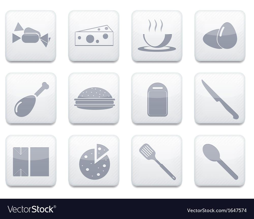 White food app icon set Eps10