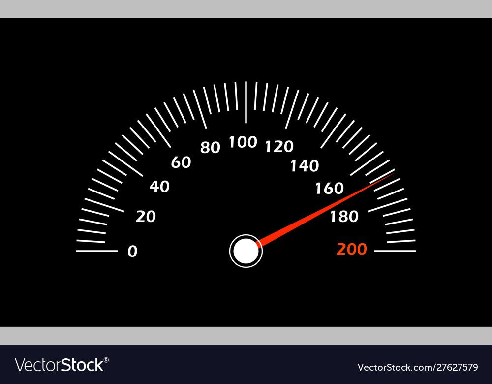 A speedometer racing speed