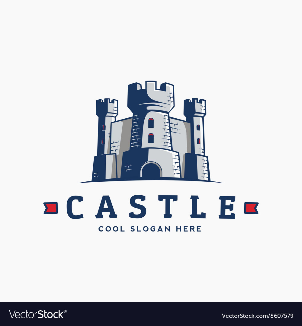 Abstract Castle Label Sign or Logo
