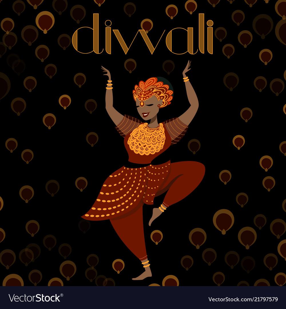 Dancing indian girl modern