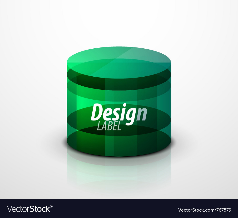 Glass cylinder vector image