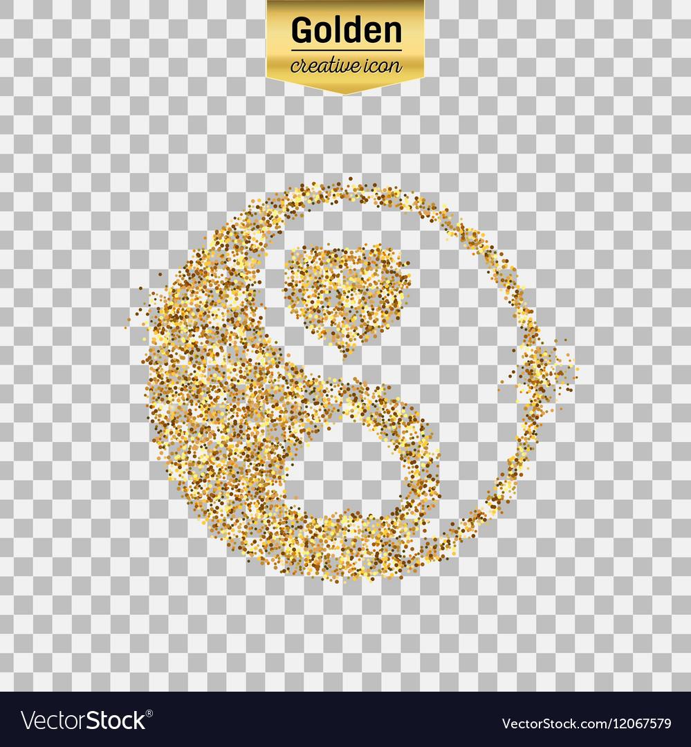 Gold glitter object