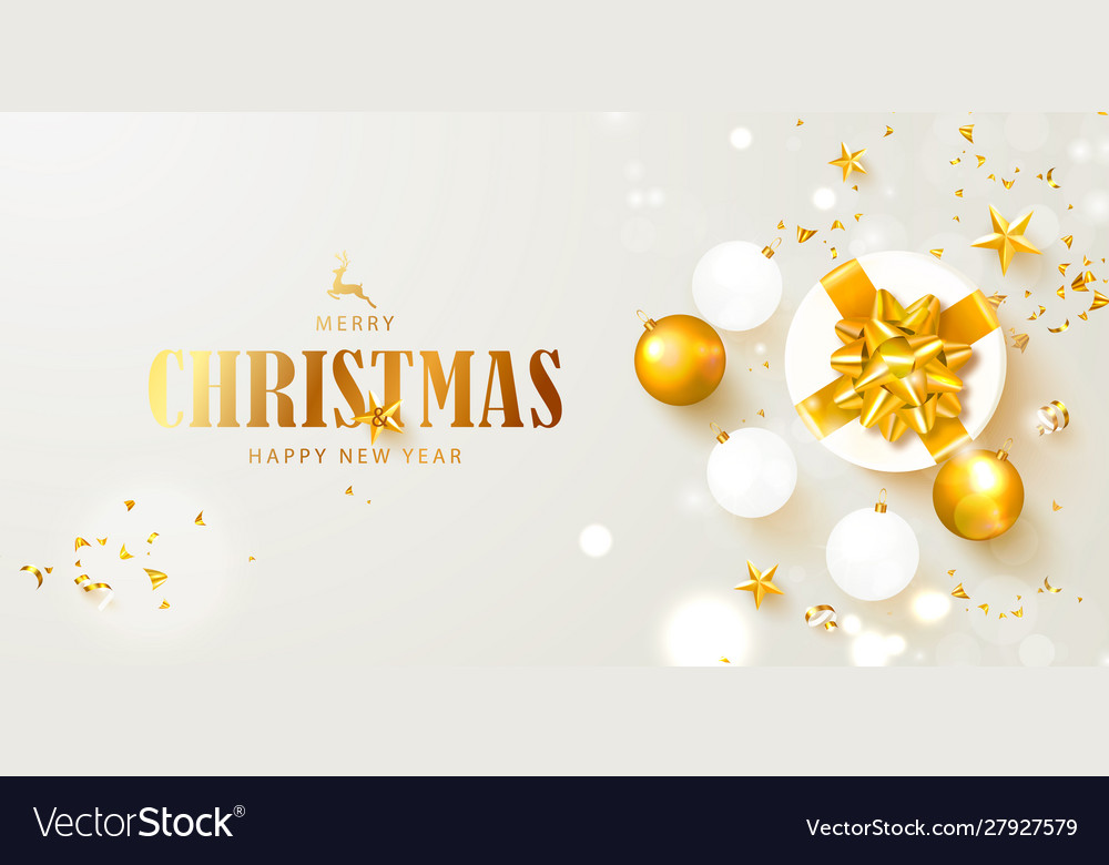 Merry christmas and happy new year banner holiday